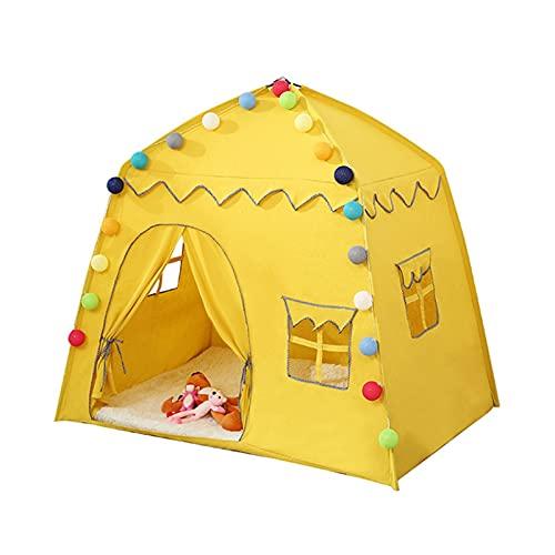 SONG Tienda de niños Plegables de 1.3m, niños Play House Teepee, Chicas Grandes Castillo de la Princesa, Decoración de la habitación de los niños, para niños Chicas Niños Plegables Play Tienda