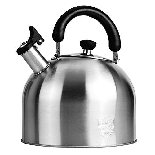 XYJNN Hervidor de café Teteras para la Estufa  Tetera hervidor De Agua Tetera Inducción Tetera Acero Inoxidable   Gran Capacidad De Varios Tamaños   Utensilios De Cocina para El Hogar (Size : 5L)