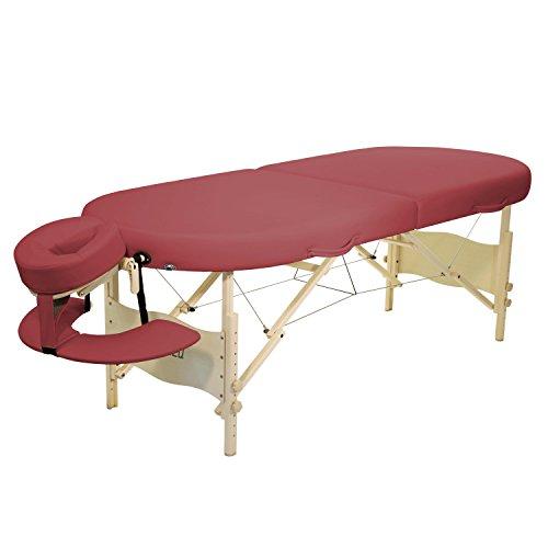 Mobile Massageliege Clap Tzu KAHUNA SET, 195x75 cm, burgund