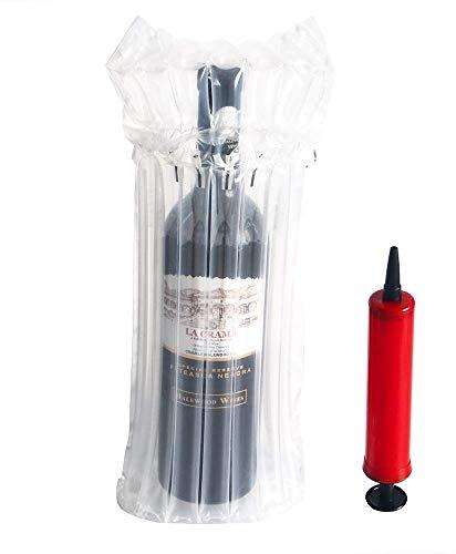 YFOX 10 Weinflaschen-Schutzvorrichtungen und aufblasbare Luftsäulenbeutel für die Luftpumpe für eine sichere Verpackung und einen sicheren Transport