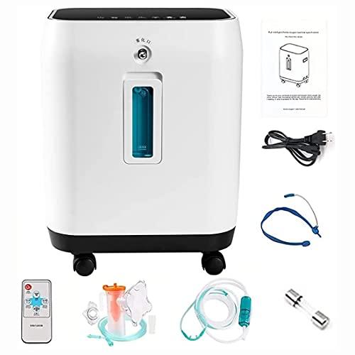 HUALUWANG Concentrador de oxígeno 2-10L / min de Gran Capacidad, máquina de oxígeno portátil para Uso doméstico y de Viaje, con Control Remoto inalámbrico, retardo de Apagado