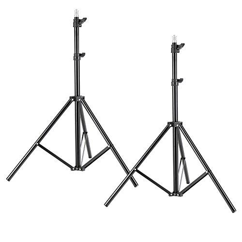 Neewer Soportes de Trípode de Luz de Aluminio 190cm para Estudio Kit Luces de Fotografía Cajas de Luz (Negro, 2 paquetes)