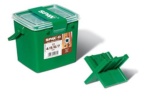 SPAX Fugenlehren in Henkelbox, für 4 Fugenbreiten 4, 5, 6 und 7mm, 12 Stück in Henkelbox, 5000009186209