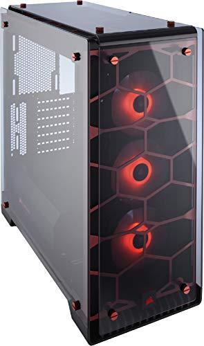 Corsair Crystal 570X RGB PC-Gehäuse (Kompakt Mid-Tower ATX, mit gehärtetem Glas und RGB-Lüftern), RGB LED, Rot