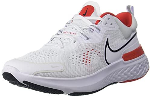 Nike React Miler 2, Running Hombre, White Black Chile Red Platinum Tint, 40 EU