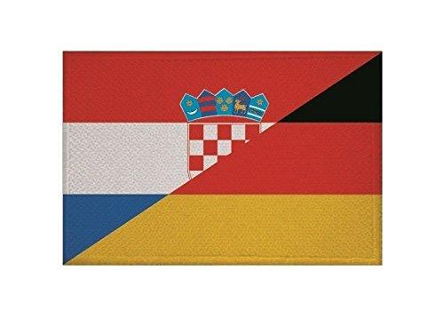 U24 Aufnäher Kroatien-Deutschland Fahne Flagge Aufbügler Patch 9 x 6 cm