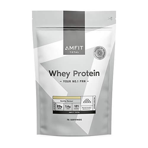 Marca Amazon - Amfit Nutrition Proteína de Suero de Leche en Polvo 2.27kg - Vainilla (anteriormente PBN)
