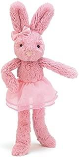 Jellycat Tutu Lulu Pink Bunny Stuffed Animal, 9 inches