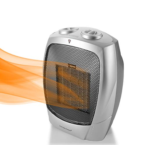 LS Portable Electric Space Heater, Heater,Space,desk for small spaces,space heater for bathroom, Safe & Quiet for Office Room Desk Indoor Use, Safe & Quiet for Office Room Desk Indoor Use (Silver)