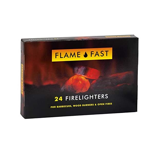 Flamefast – Bloques de iniciación para encendedores, arranque rápido, barbacoa ecológica, quemador de leña, fuego…