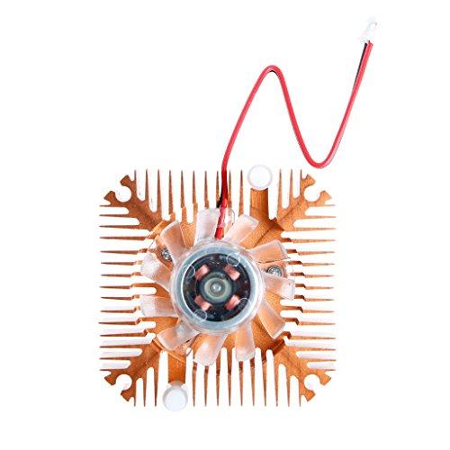 Yintiod 2-Pin 55mm PC GPU VGA Grafikkarte Kühlkörper Ersatz Lüfter 12V 0.10A