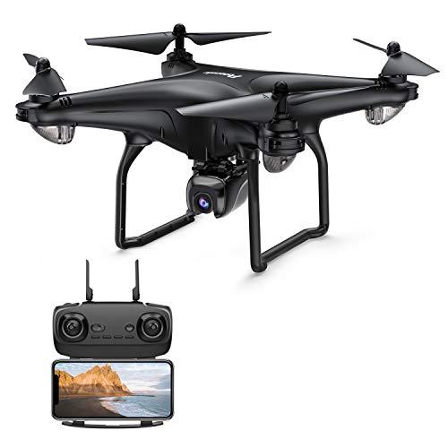 Potensic Drone 1080P HD caméra 5.8G WiFien Fonction Suivez-Moi, Maintien de l'altitude, 18 Minutes Batterie, GPS Retour à la Maison