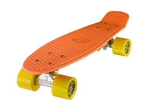 Ridge Retro 22 Skateboard, Unisex, Naranja/Amarillo, 58 cm