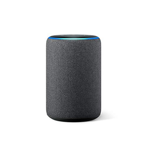 Amazon Echo (3. Gen.) Intelligenter Lautsprecher mit Alexa, Anthrazit Stoff, Internationale Version, EU-Netzteil