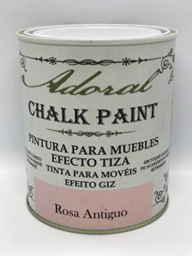 Adoral - Chalk Paint Pintura para muebles Efecto Tiza 750 ml (Rosa Antiguo)