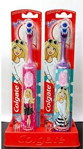 Colgate Kids Brosse à dents à batterie extra douce Barbie 3 ans +