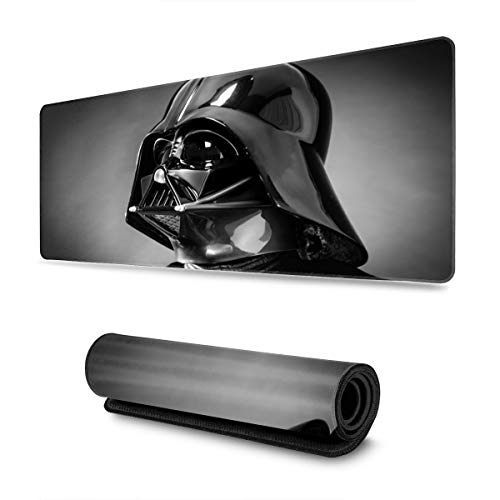 Star Wars Darth Vader Helmet Mouse Pad Rectangle Non-Slip Rubber Electronic Sports Oversized Large Mousepad Gaming Dedicated 11.8X31.5 Inch