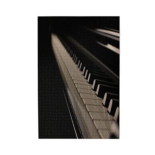 YOLIKA Rompecabezas de Imágenes 1000 Piezas,Teclas de Piano
