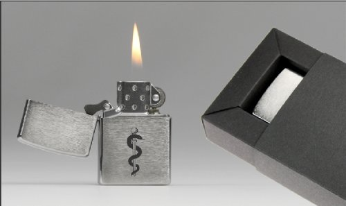 Zippo-Feuerzeug Motiv Äskulapstab