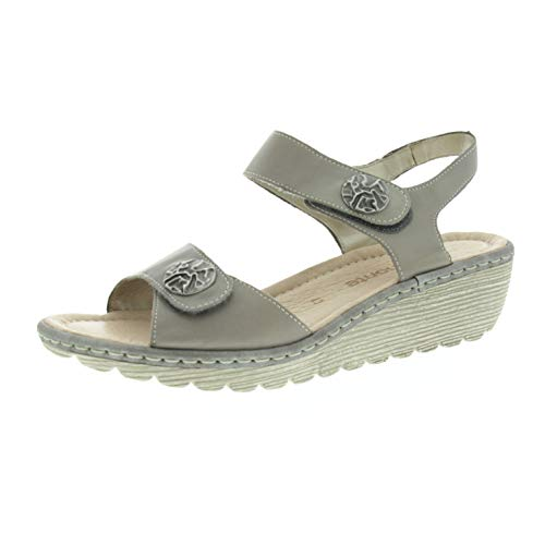 Remonte damesschoenen sandalen met hak grijs R375742