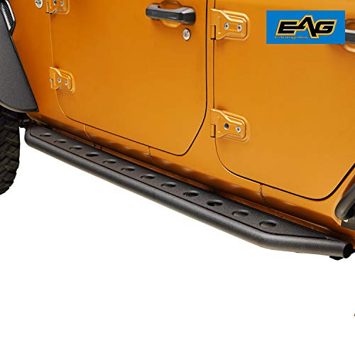 EAG Off-Road Tubular Round Hole Running Board Side Step Fit for 18-20 Jeep Wrangler JL 4 Door