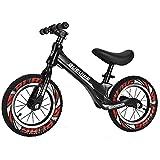 GASLIKE Bicicleta de Equilibrio para niños, sin Pedales, Ruedas de 12/14 Pulgadas, Asiento Ajustable, Primera Bicicleta para niños de 2-8 años de Edad, Estable y Segura,D 12inch Black