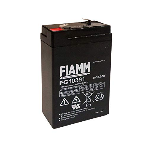 Blei-Batterie 6V 3,8Ah FIAMM FG10381