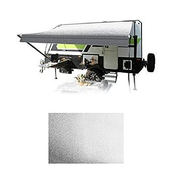 HITORHIKE RV Awning Fabric Replacement Standard Grade Premium Vinyl  13  Fabric 12 2   Gray Fade