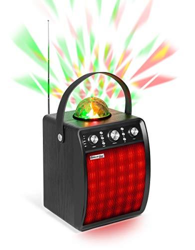 Technaxx MusicMan Disco-Lautsprecher + Mikrofon, BT, MicroSD, USB, AUX-IN, FM,...