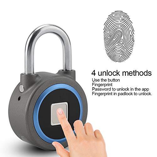 Vingerafdrukslot - Keyless Anti-Theft Smart Lock Oplaadbaar Hangslot Mobiele Telefoon Bluetooth App Voor Schoolkast, Gym, Deur, Kast, Koffer, Rugzak, Enz.