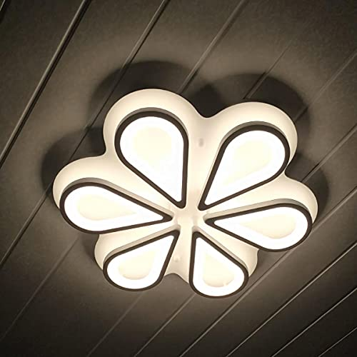 Royal Pearl Modern LED Ceiling Lights with Flower Shape 60W Flush Mount Ceiling Light Fixture...