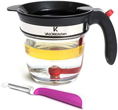 4 Cup Gravy Fat Separator With Bottom Release Healthier Gravy Soup Stock And Oil Separator With product image