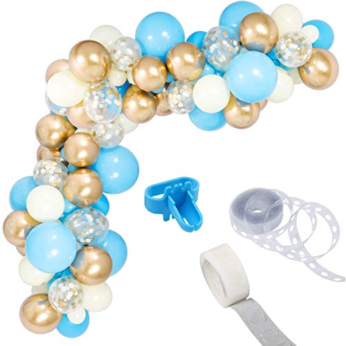 light blue baby decorations - 2