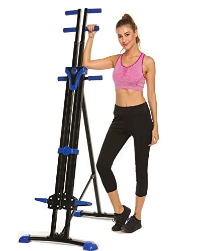 Stair Climber Machine Folding Climbing Exercise Machine Vertical Climbing Exercise Machine for Home Gym Fitness (Blueness)