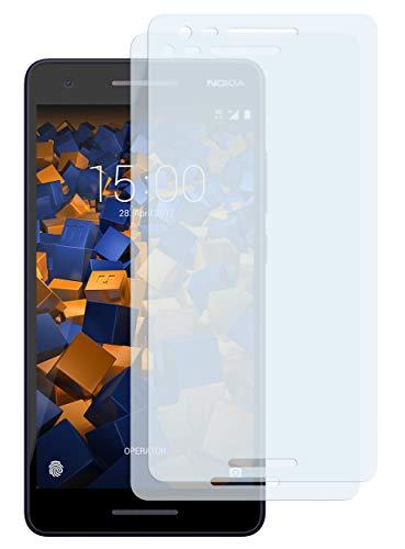 mumbi Schutzfolie kompatibel mit Nokia 2.1 2018 Folie klar, Bildschirmschutzfolie (2X)