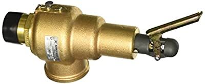 """Kunkle 6010HGE01-AM0150 Bronze ASME Safety Relief Valve for Steam, EPR Soft Seat, 150 Preset Pressure, 1-1/2"""" NPT Male Inlet x 2"""" NPT Female Outlet from Tyco Valves & Controls"""