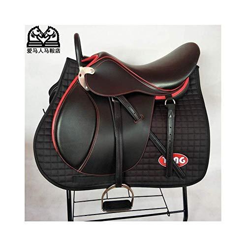 zdw Al aire libre Yageer Maan Negro caballo de silla de montar a caballo sudor...