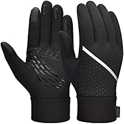 VBIGER winter gloves men's touchscreen gloves warm gloves sports gloves cycling gloves running gloves for women and men black