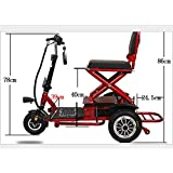 AA100 Scooter de Tres Ruedas eléctrica Plegable Ancianos 48v20A Doble Unidad de 700W de Potencia Fuerte 50 kilometros/al Aire Libre, Las Personas con discapacidad en Silla de Ruedas eléctrica