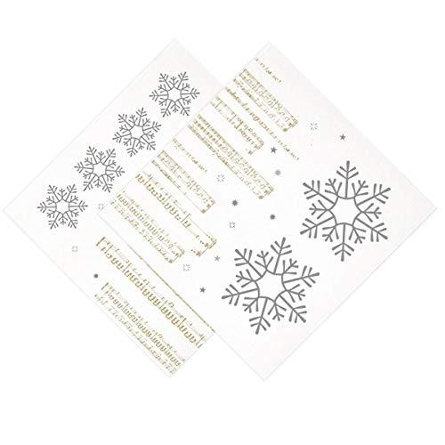garcía de POU 804.15 Serviettes Double point New Snow, 18 G/m2, 40 x 40 cm, Blanc