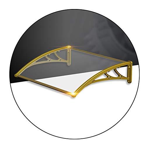 WXQ Eingangstür EIN Überdach Vordach Haustür Terrassentür Überdachung Haustürdach Pultvordach Pultvordach Kunststoff Aluminium (Color : Brown, Size : 80x120cm)