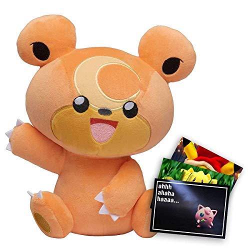 Lively Moments Pokemon Plüschtier / Kuscheltier ca. 20 cm Teddiursa und Exklusive GRATIS Grußkarte