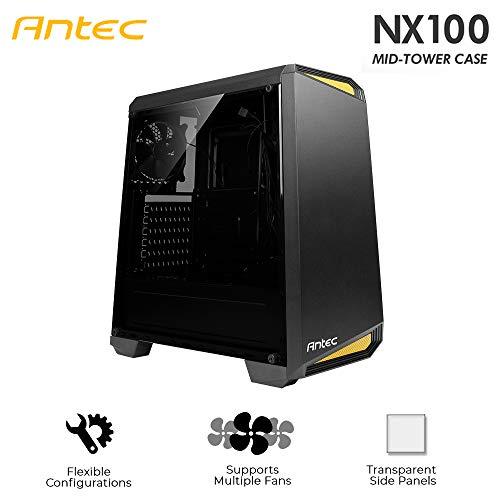 Antec NX100, Midi Tower Gaming Gehäuse, Seitenfenster