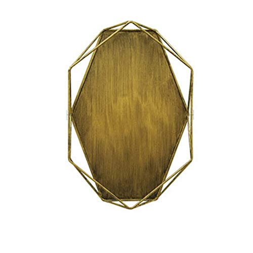 yaunli Bandeja Decorativa Placa de joyería de la Vendimia Soporte de exhibición de la joyería Escritorio Decoración Simple Almacenamiento de Almacenamiento Organizador Bandeja de decoración del hogar