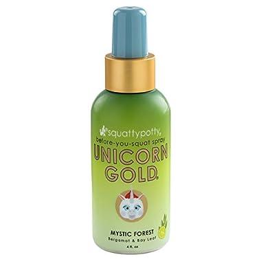 4 FL OZ. Squatty Potty Unicorn Gold Toilet Spray, Mystic Forest