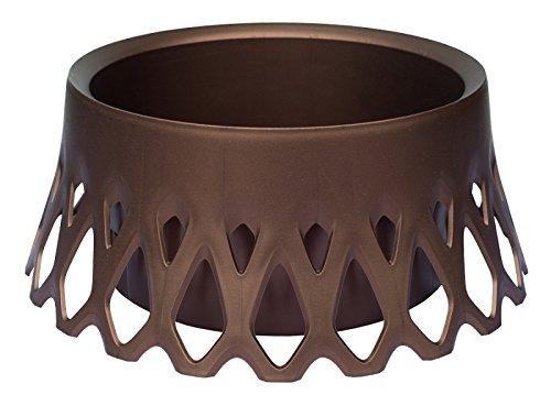 Plastia Dekor-/ Bewässerungsschale Roseta Durchmesser 40 cm, braun