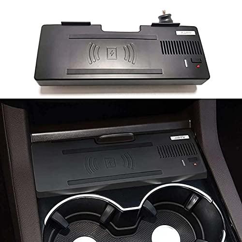 LYBH Placa De Carga del Cargador del Teléfono del Cargador Inalámbrico Rápido del Coche De 15W Qi para Los Accesorios De Mercedes Benz Gle W166 C292 Gls X166 Ml GL