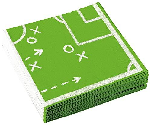 20 Servietten * FUSSBALL-STADION * für WM 2018-Party oder Kindergeburtstag // EM Party Mottoparty Geburtstag Soccer Napkins Papierservietten