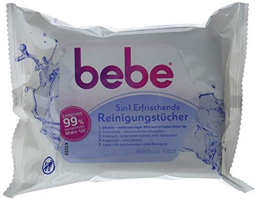 Bebe Young Care 5 in 1 Erfrischende Reinigungstücher, 25 Tücher