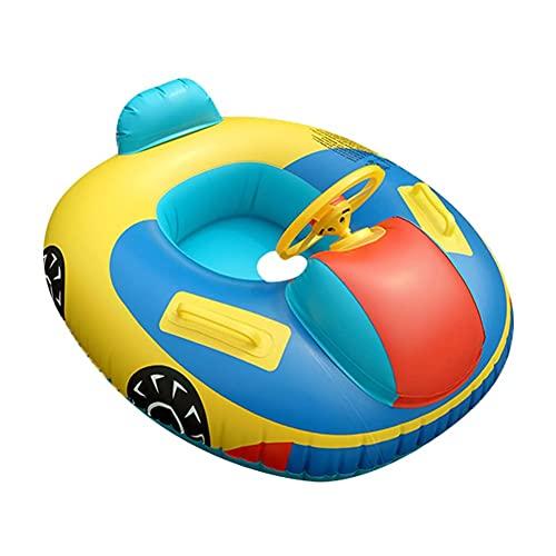 Cartoons Schwimmring, Baby Schwimmring, Aufblasbarer Automobil Schwimmring, Lenkrad-Griff, für Kinder ab 8 Monaten bis 48 Monaten